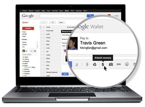 Send money using gmail