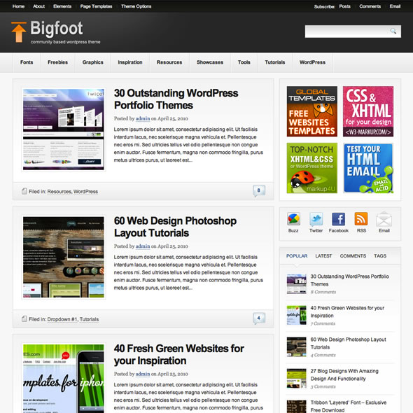 Bigfoot for WordPress