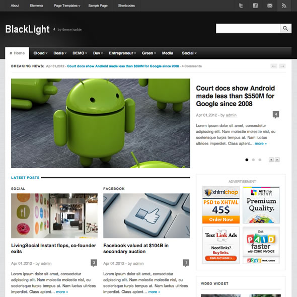 Blacklight for WordPress