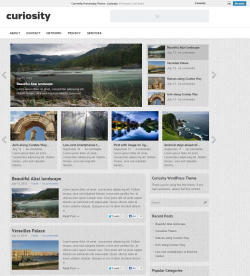 Curiosity WordPress Theme