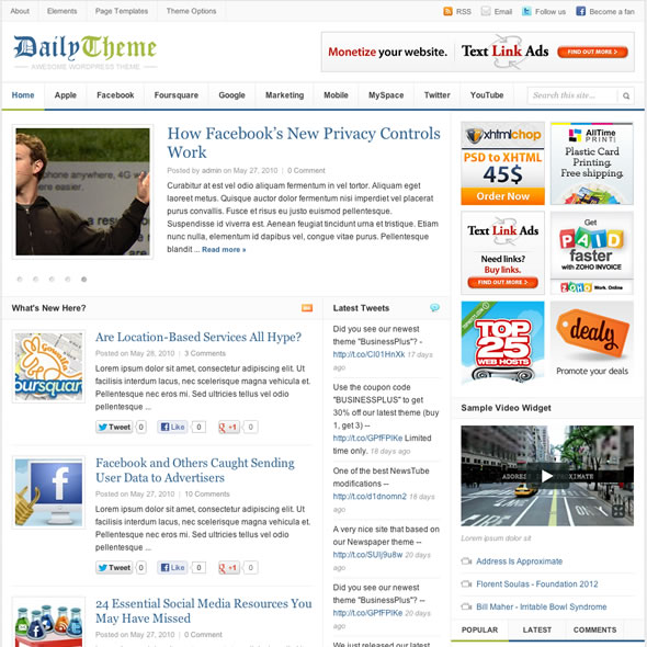Daily for WordPress