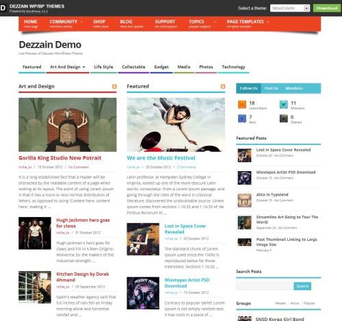Dezzain WordPress Theme