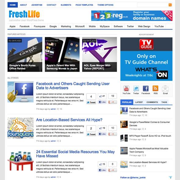 Freshlife for WordPress