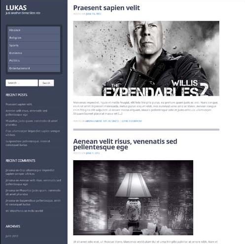 Lukas Premium WordPress Theme