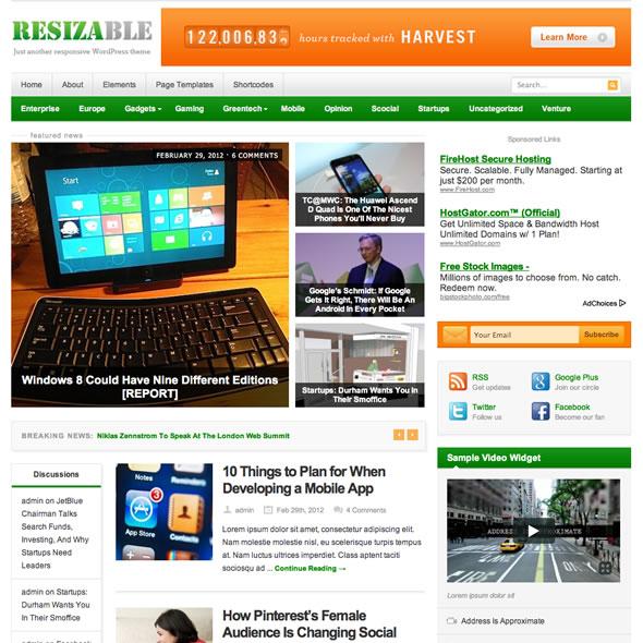 Resizable for WordPress
