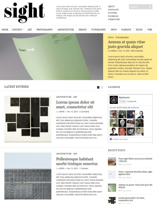 Sight- WordPress Theme