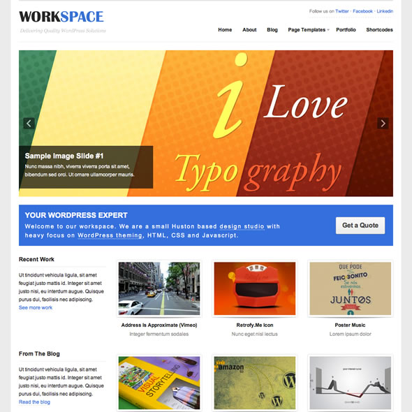 Workspace for WordPress