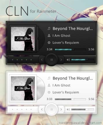Rainmeter Music Player Skin