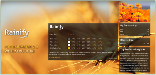 Rainify 1.0.1 for Rainmeter
