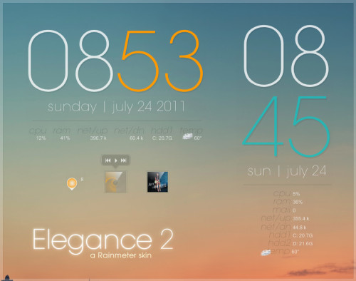 Elegance 2 for Rainmeter