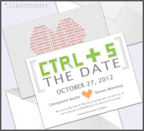 Geek Pixel Save The Date