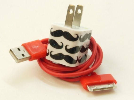 Mustache iPhone Charger by PersonalPower