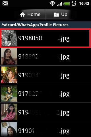 Profile Picture in SD Card