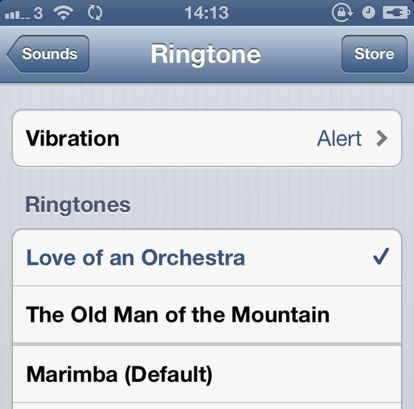 Selecting Your New Ringtone