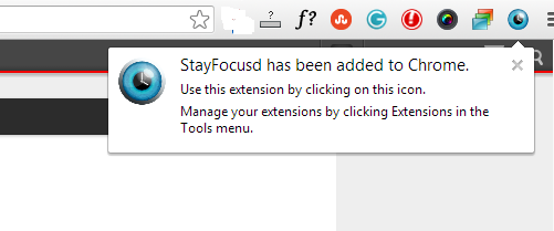 StayFocusd Added to Chrome