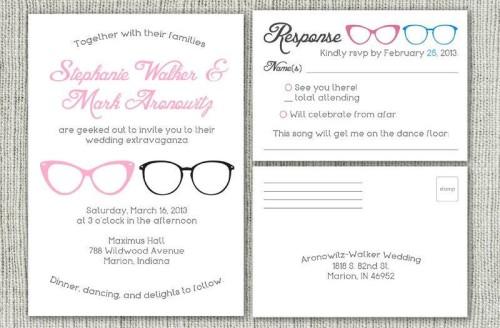 Geek Glasses Invitation