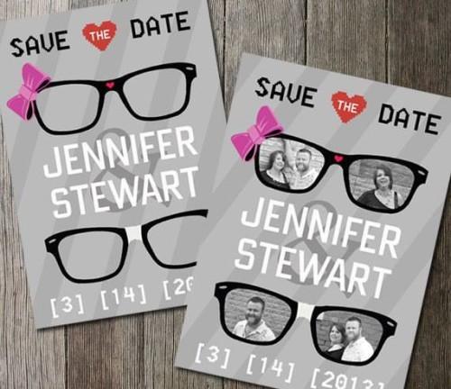 Geek Wedding Save The Date invitation