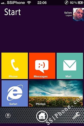 Windows 8 Metro Winterboard Theme