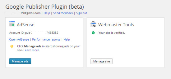 Google Publisher Plugin ID Page