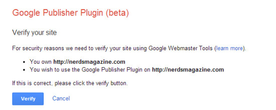 Google Publisher Plugin Verification