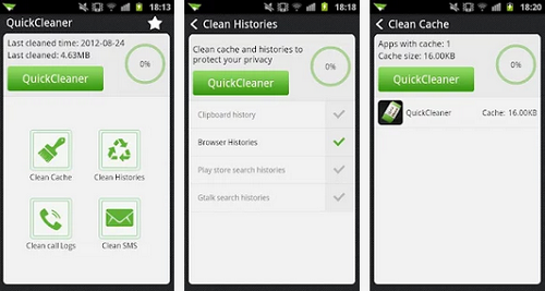 quick cleaner for android