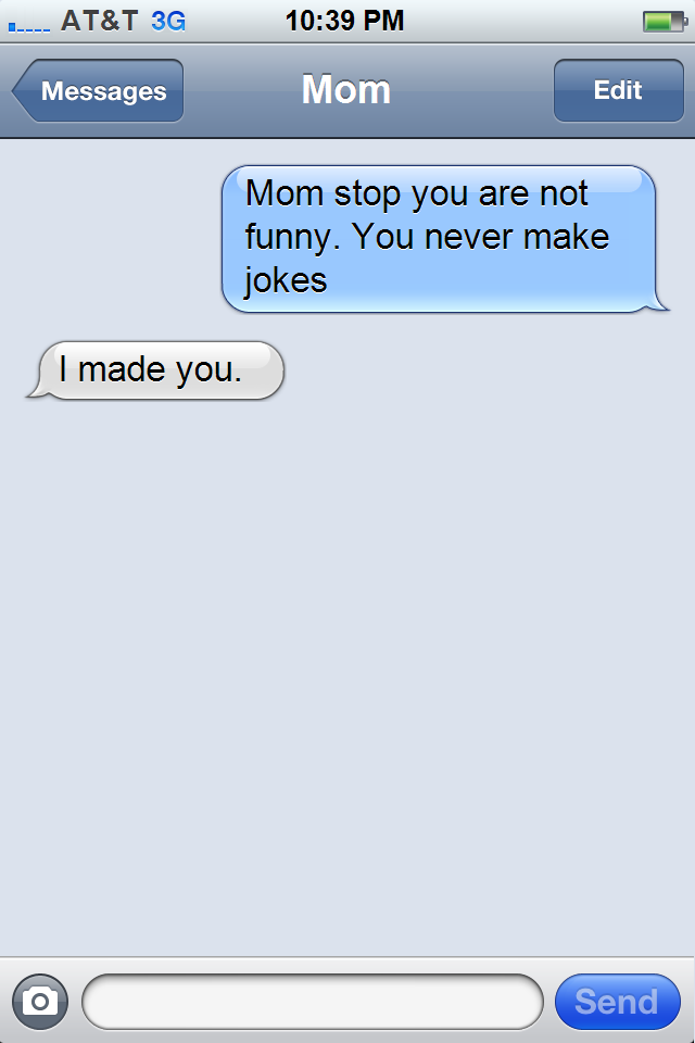 stop you are not funny