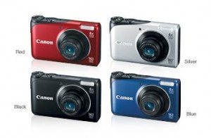 Canon PowerShot A2200 in assorted colors
