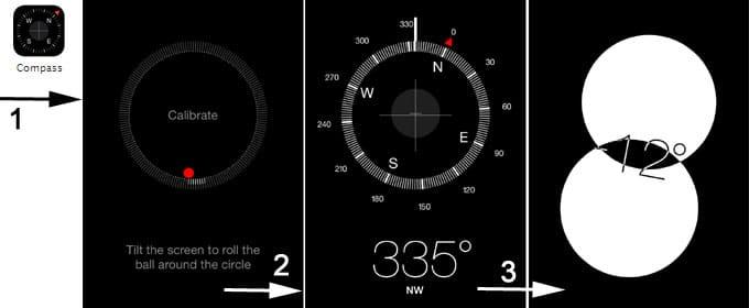 Compass bubble level