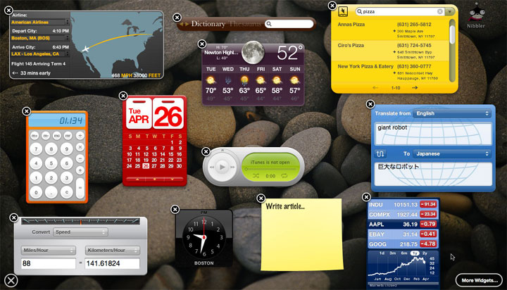 Mac Desktop Widgets