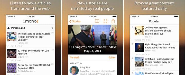 Umano iPhones app