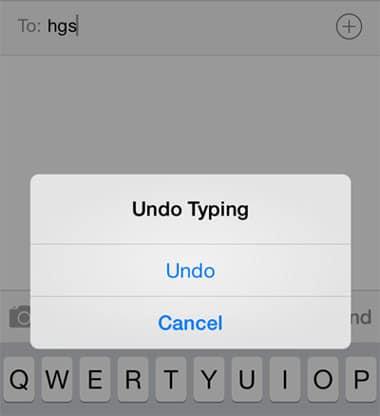 undo typing