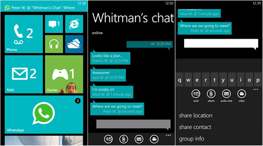 Windows Phone Messaging Apps