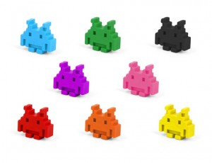 Space Invaders Crayons