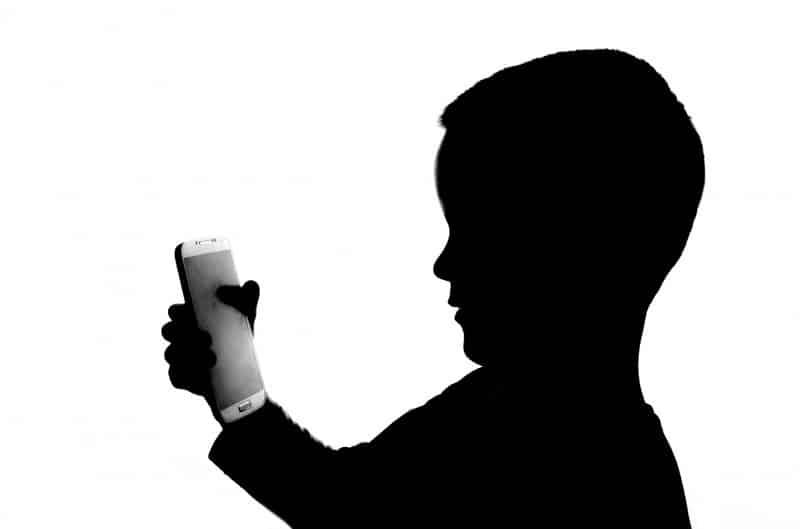 Kid Playing Phone